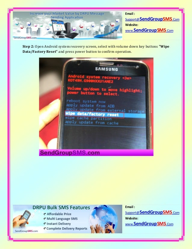 Learn how to factory reset samsung galaxy s5 model sm g900 h smartpho…