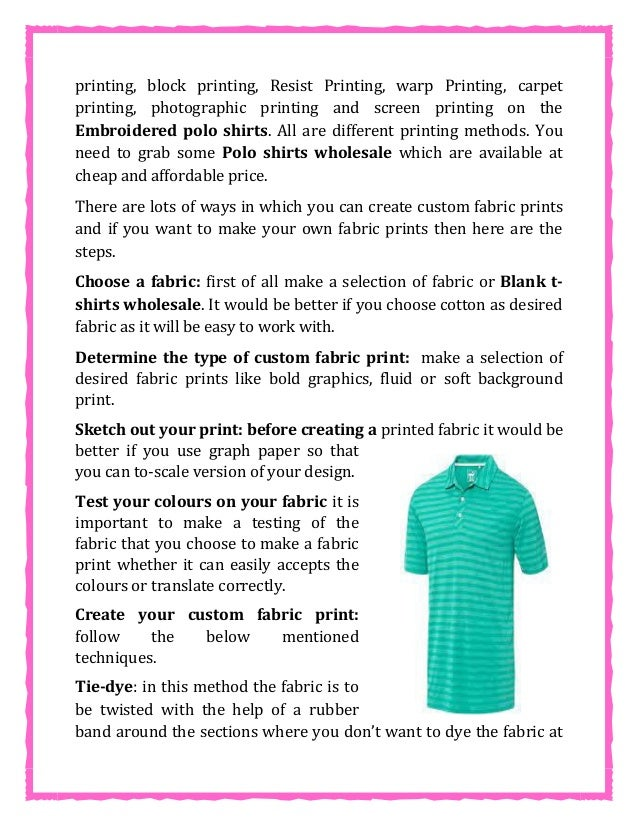 Learn How To Make Your Own Fabric Prints