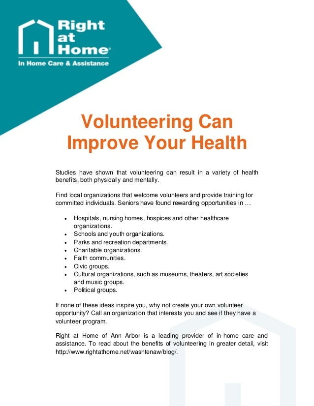 Learn How Volunteering Can Improve Senior Health in Ann Arbor Michiga…
