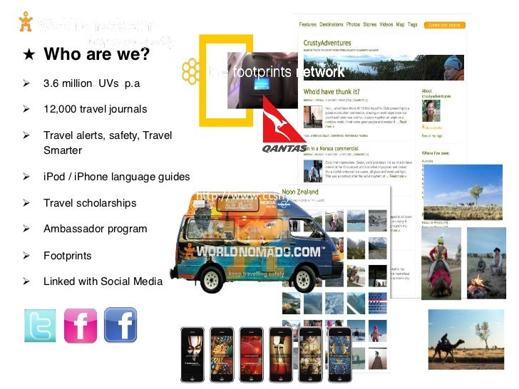 """★ Who are we?!Ø   3.6 million UVs p.a""""Ø   12,000 travel journals""""Ø   Travel alerts, safety, Travel      Smarter""""Ø..."""