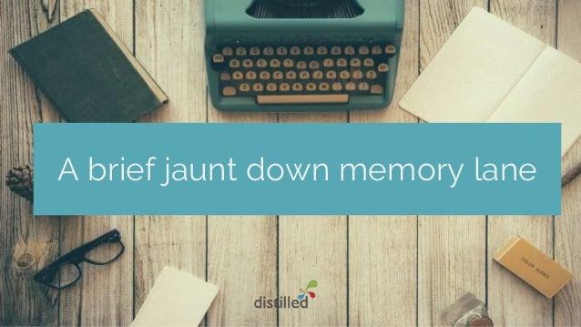 A brief jaunt down memory lane