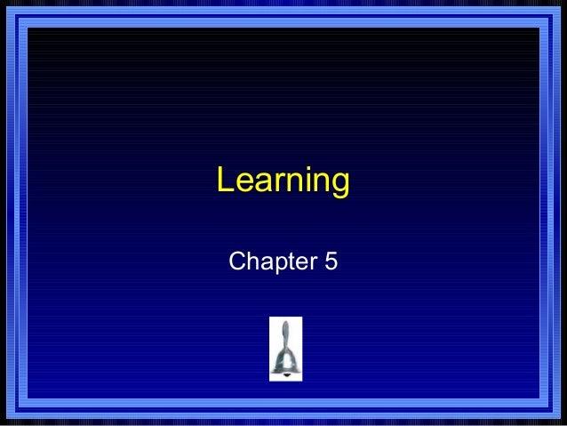 LearningChapter 5