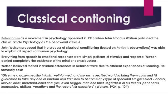 a discussion on the differences between classical and operant conditioning Unit 5_learning and conditioning masterdoc friday, july 02, 2004 5 part 2: operant conditioning (pp 240–256) differences from classical conditioning.