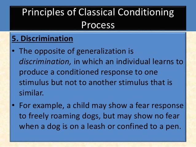 addictions and phobias through classical and Classical conditioning is the classical base for formation of phobias in a personoperant conditioning is a good base for addiction & stems from the environment.