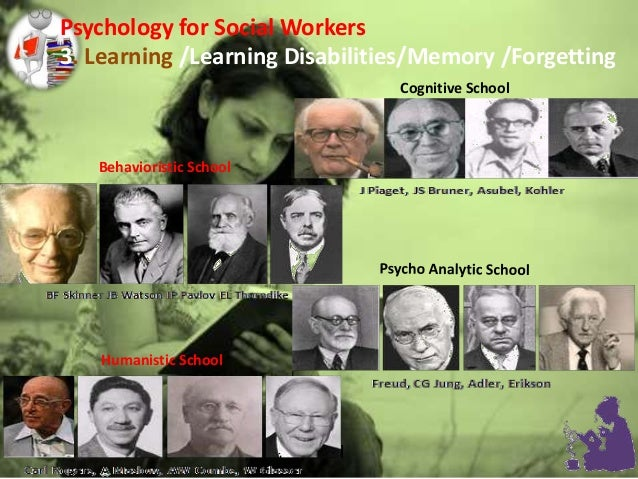 Behavioristic School Cognitive School Humanistic School Psychology for Social Workers 3. Learning /Learning Disabilities/M...