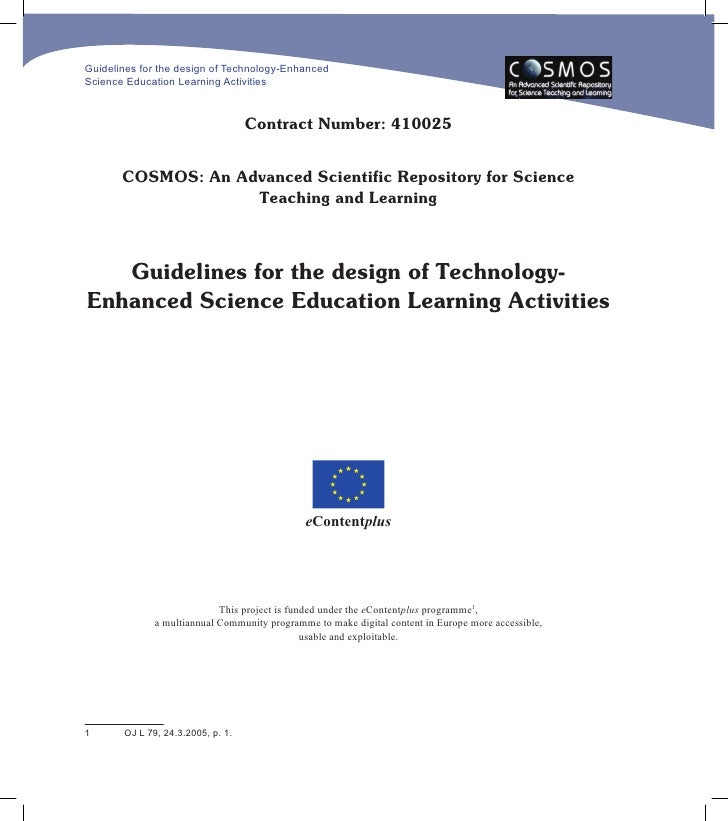 Guidelines for the design of Technology-Enhanced Science Education Learning Activities                                    ...