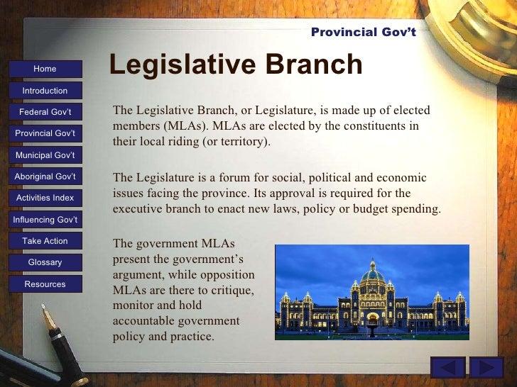 legislative branch the government mlas rh slideshare net