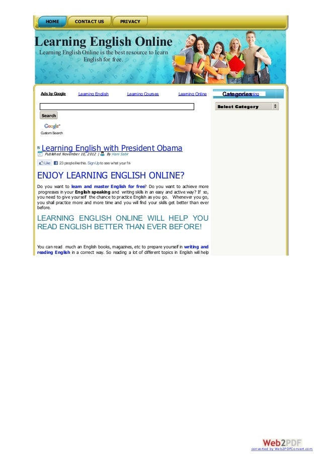HOME              CONTACT US                      PRIVACYLearning English Online Learning English Online is the best resou...