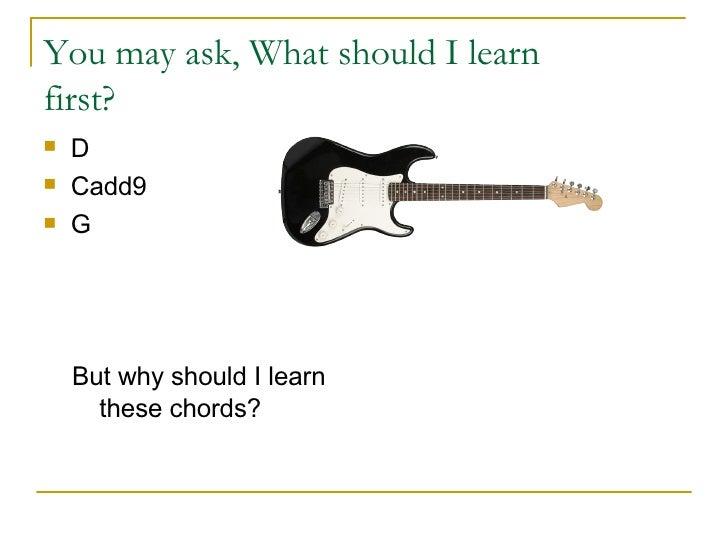 Learning Guitar Now:  Beginner Guitar Lesson Slide 2