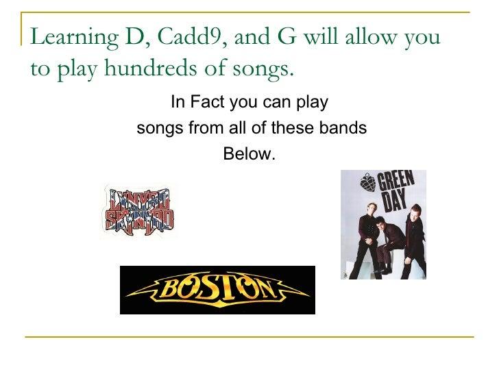 Learning Guitar Now:  Beginner Guitar Lesson Slide 3