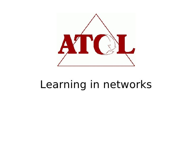 Learning in networks