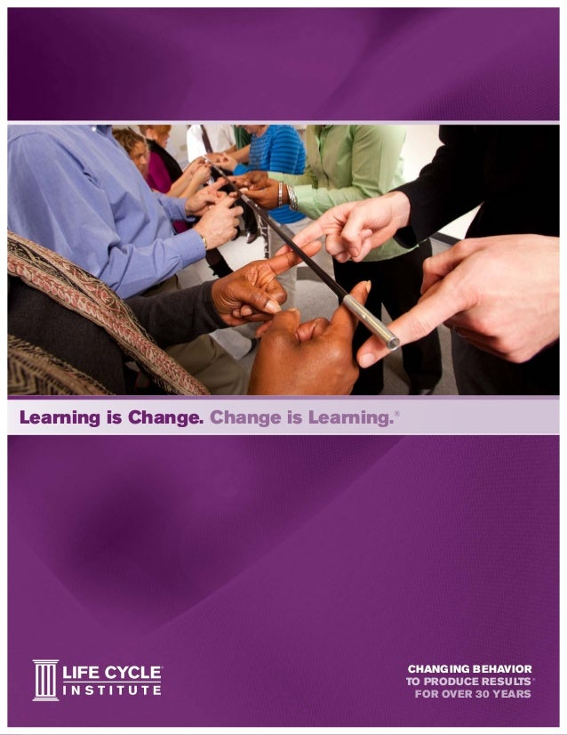 Learning is Change. Change is Learning.® changing behavior to produce results for over 30 years ®