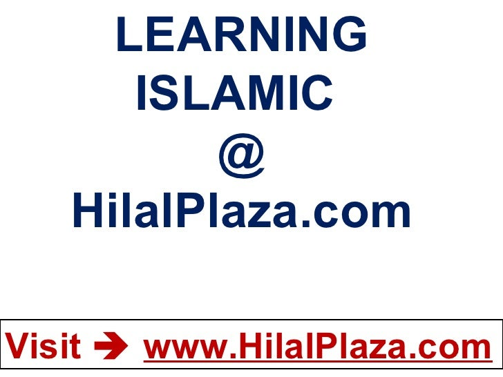 LEARNING ISLAMIC  @ HilalPlaza.com