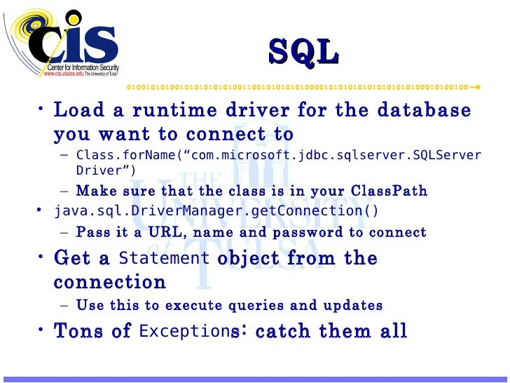 Learning Java 4 –Swing, SQL, and Security API Slide 3