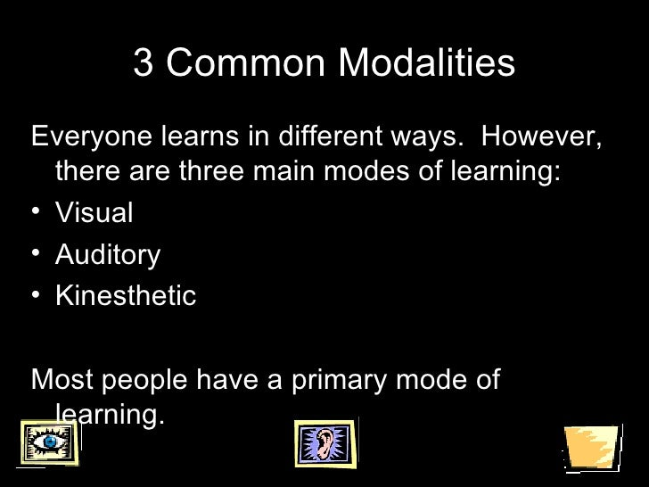 Modalities - SUNY Cortland