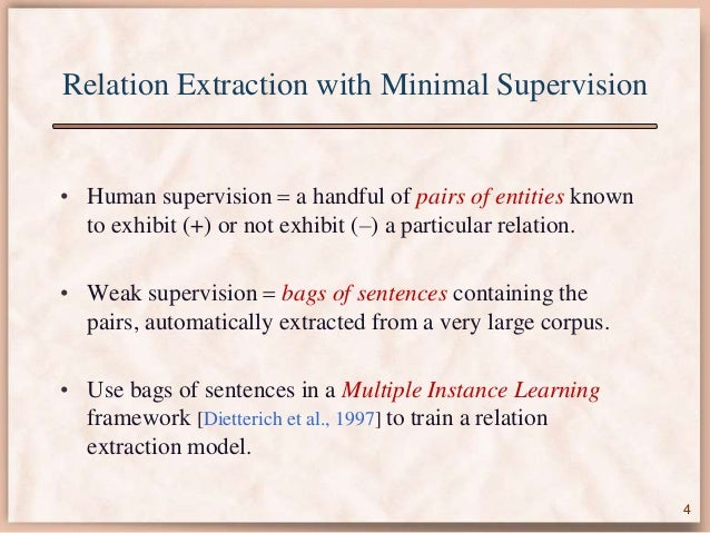 minimal supervision