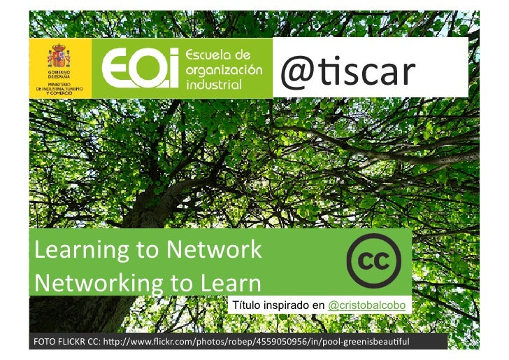 "@""scar	      Learning	   to	   Network	    Networking	   to	   Learn	   	                                                 ..."