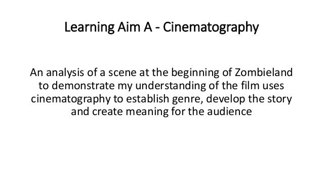 Learning Aim A Cinematography Presentation Cardio