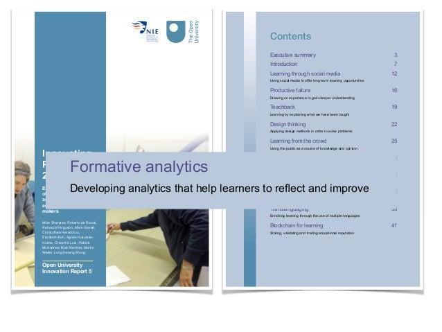 Learning Analytics Framework (Greller & Drachsler, 2012) Greller, W., & Drachsler, H. (2012). Translating learning into nu...