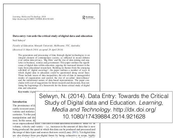 Analíticas del aprendizaje: una perspectiva crítica