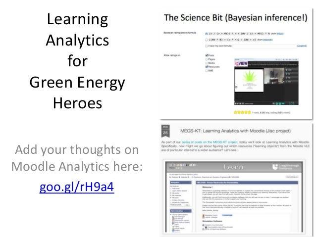 Learning Analytics for Green Energy Heroes Slide 2