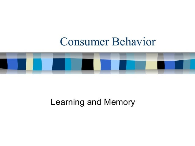 Consumer Behavior Learning and Memory