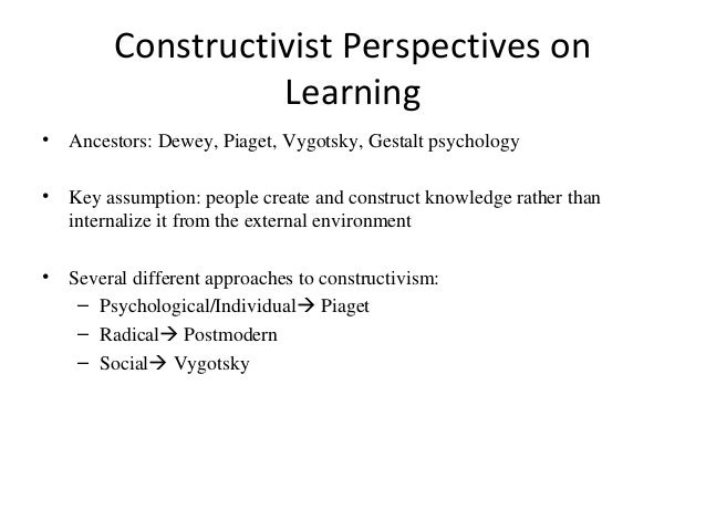 constructivism and metacognitive strategies Learning and instruction: constructivism in her chapter on constructivism driscoll (2005) explains that constructivism is not a single theory but draws its roots.