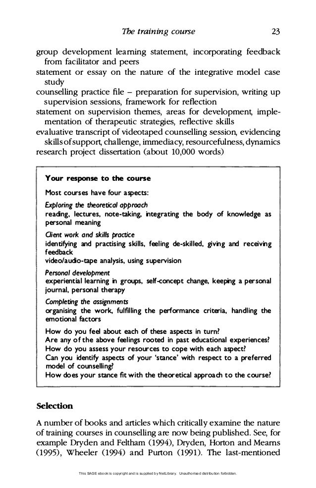 learning and writing in counselling 32