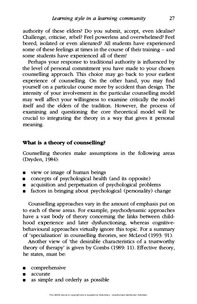 Learning Essays  Underfontanacountryinncom Learning Styles Essay Learning And Writing In Counselling