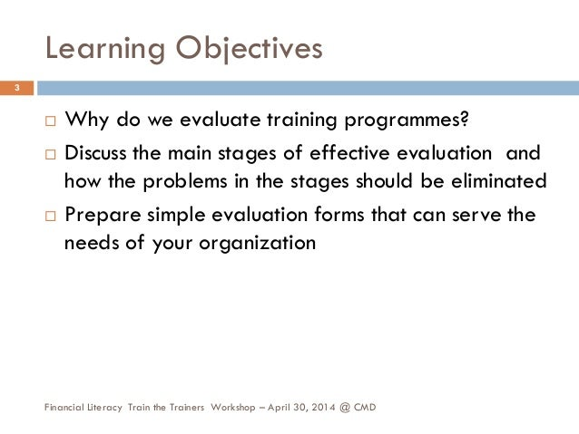 Learning assessment and evaluation Slide 3