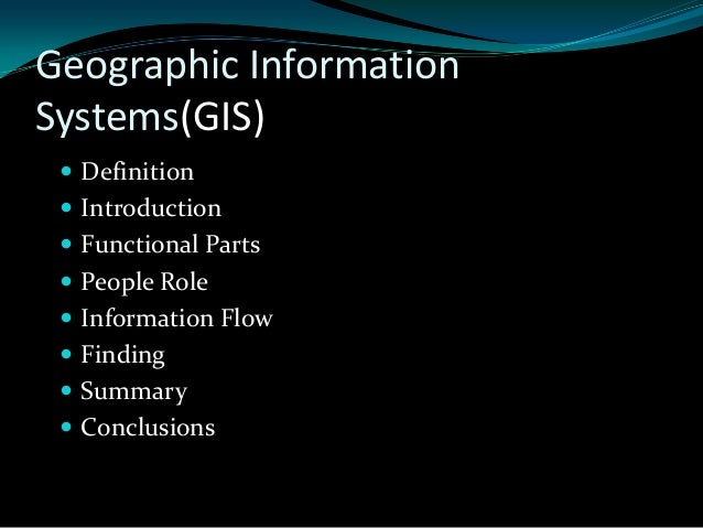 Learning assignment on geographic information system