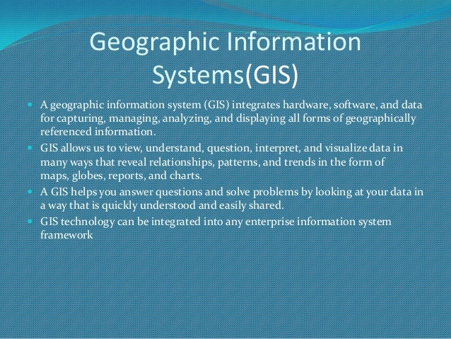 essay geographic information system Geographic information system essays: over 180,000 geographic information system essays, geographic information system term papers, geographic information system.