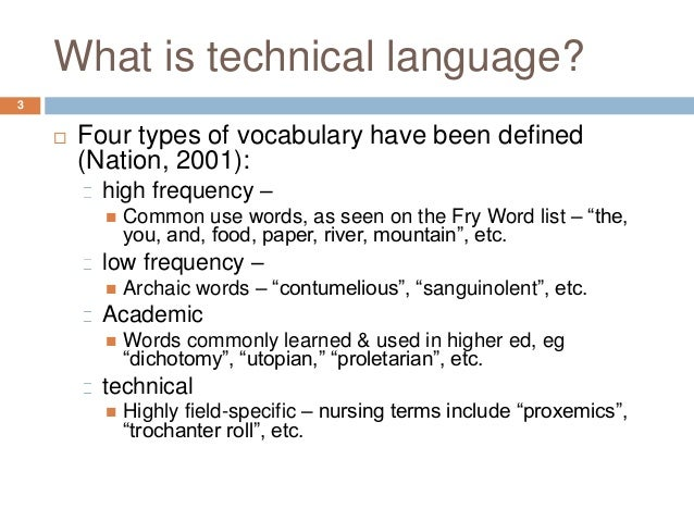 Learning a technical language: How modality impacts nursing students'…