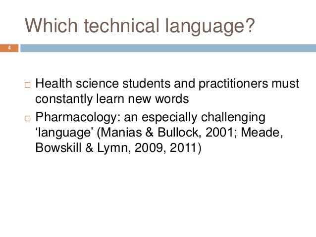 what is technical language