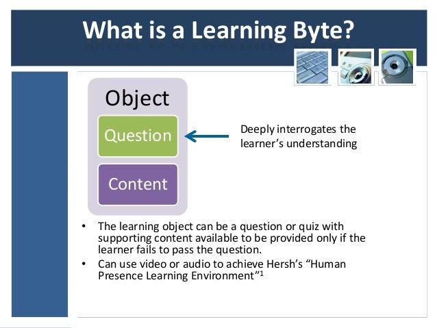 What is a Learning Byte?    Object                               Deeply interrogates the    Question                   lea...