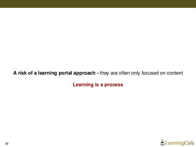 Learning Portals – User Centric Gateway to Learning & Knowledge
