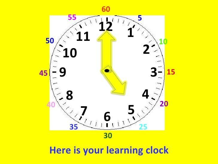 Learning clock lesson
