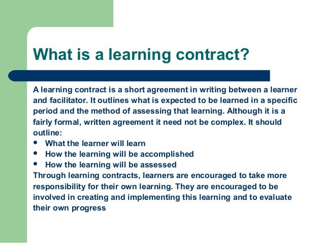 Bu130 learning contract