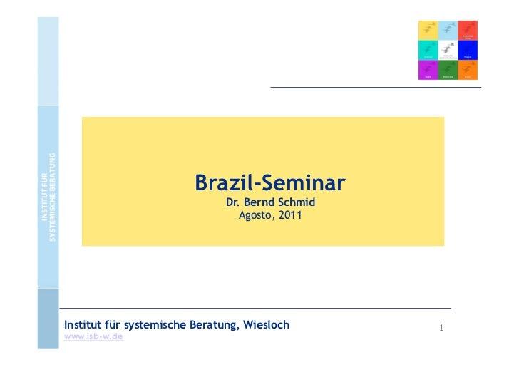Brazil-Seminar                              Dr. Bernd Schmid                                 Agosto, 2011Institut für syst...