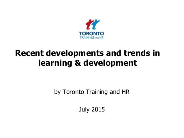 recent trends in training and development pdf