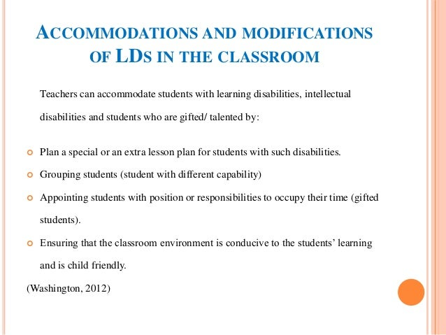 Accommodating disabilities in classrooms