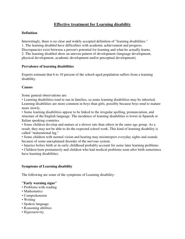 """Effective treatment for Learning disabilityDefinitionInterestingly, there is no clear and widely accepted definition of """"l..."""