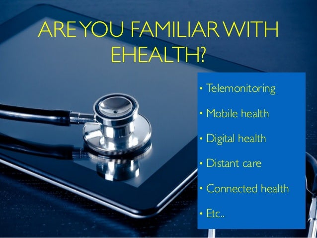 eHealth and digital health - Intro to learn  Slide 2