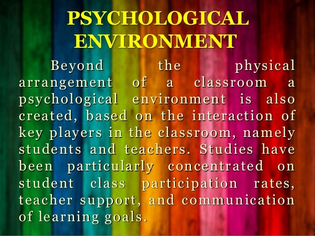 the key goal of a supportive learning environment An effective learning environment:  being respectful, supportive,  teacher assessment on performance standard 7: positive learning environment .