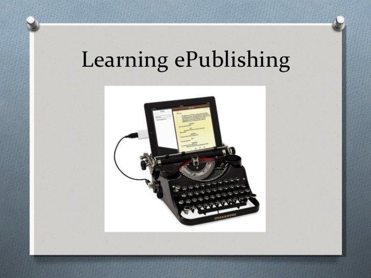 Learning ePublishing