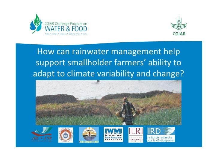 How can rainwater management help  support smallholder farmers' ability to adapt to climate vari...