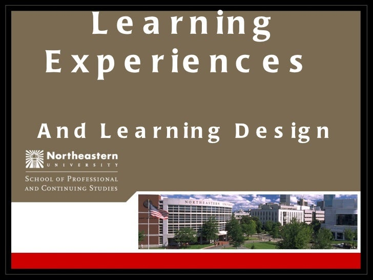 Learning Experiences  And Learning Design