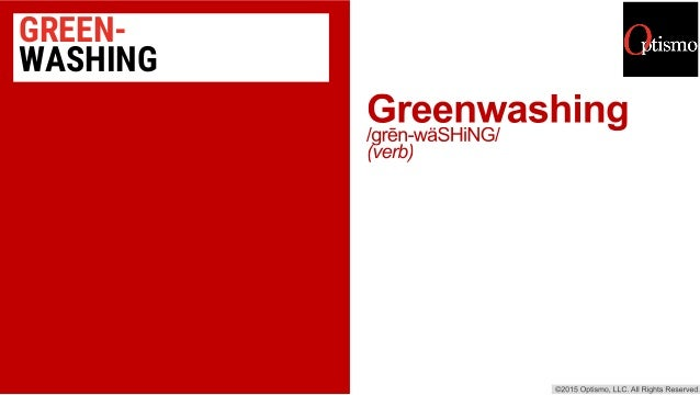 GREEN- WASHING