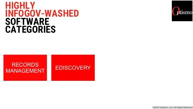 HIGHLY INFOGOV-WASHED SOFTWARE CATEGORIES RECORDS MANAGEMENT EDISCOVERY