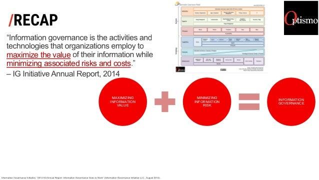 /RECAP maximize the value minimizing associated risks and costs MAXIMIZING INFORMATION VALUE MINIMIZING INFORMATION RISK I...